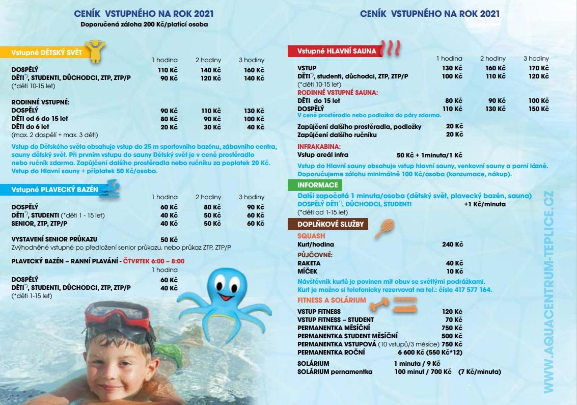 Nový ceník služeb platný od 1.1.2021 - část 2